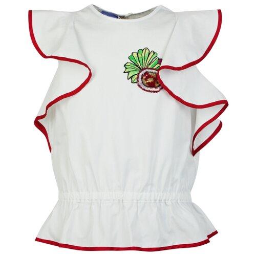 Купить Майка Stella Jean размер 152, белый, Футболки и майки