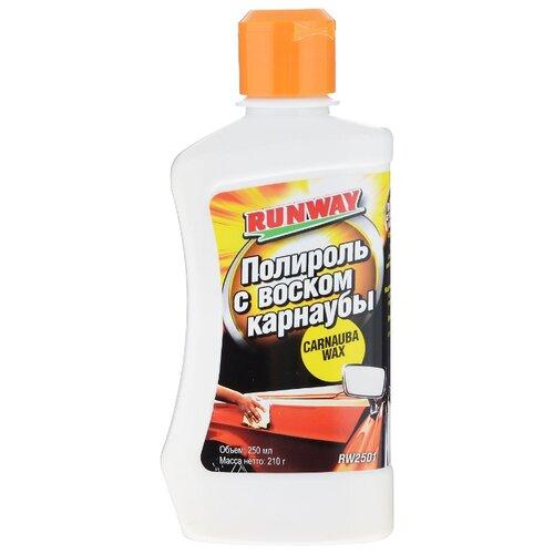 Воск для автомобиля RUNWAY жидкий Полироль с воском карнаубы 0.25 л