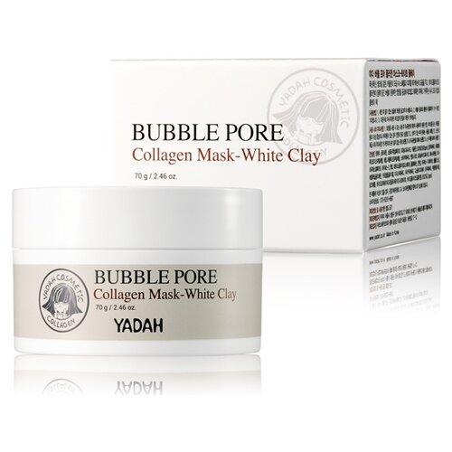 Yadah Пузырьковая маска с коллагеном из белой глины Yadah Bubble Pore Collagen Mask-white Clay, 70 мл маска на основе белой глины pore tightening clay pack 100мл
