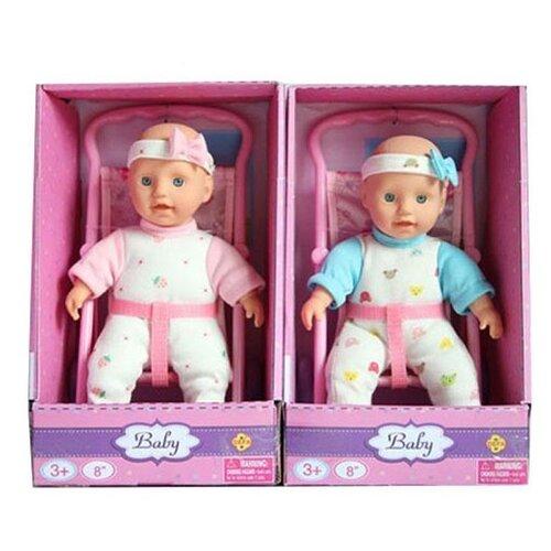 Купить Пупс Defa Lucy в коляске 23 см 5088, Куклы и пупсы