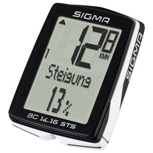 цена на Велокомпьютер SIGMA BC 14.16 STS, черный/белый