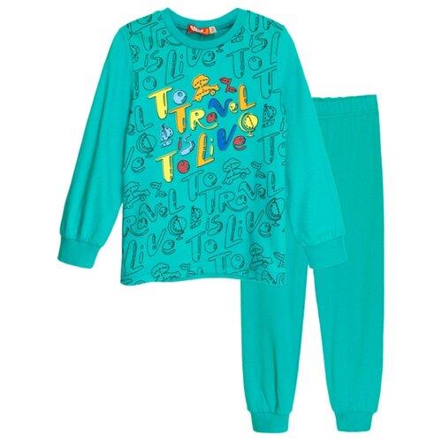 Пижама Let's Go размер 104, бирюзовый