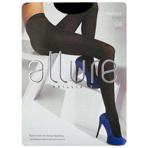 Колготки ALLURE Brilliant Velour 120 den, размер 5, nero (черный) колготки glamour velour 3 120 den черный