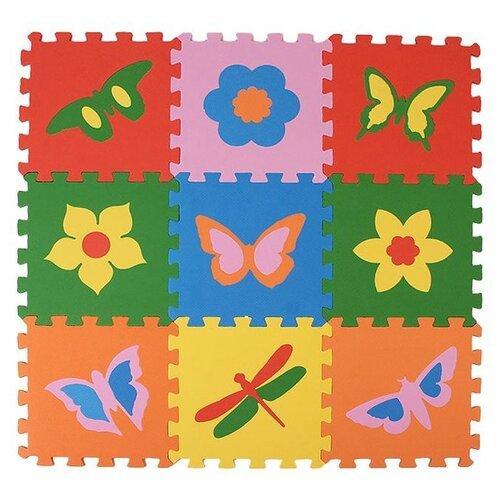 Купить Коврик-пазл ЭкоПолимеры Бабочки (33МП1/Б), Игровые коврики