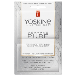 Yoskine набор скраб + маска Asayake Pure Pore Purifying Volcanic Thermal Treatment