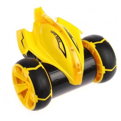 Купить Машинка-перевертыш Наша игрушка 5588-612 19 см желтый, Радиоуправляемые игрушки