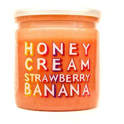 Кремовый мёд клубника-банан, Grizzly Nuts, 230 г grizzly nuts арахисовая паста с ванилью и изюмом vanilla sky 370 г