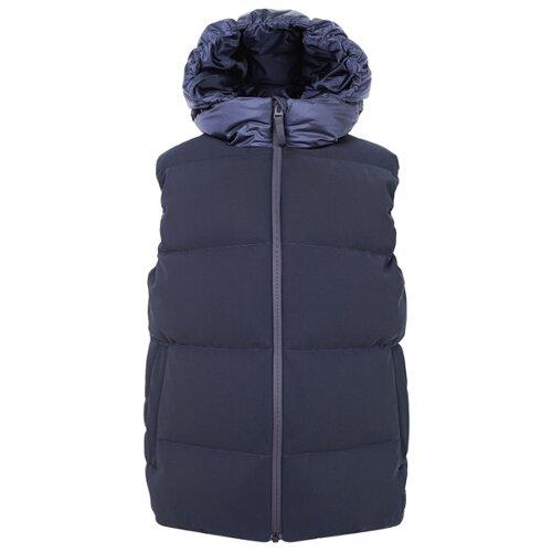 Купить Жилет Il Gufo A19GT028N0035 размер 140, 495 синий, Куртки и пуховики