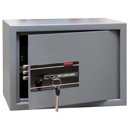 Сейф ONIX LS-25K, серый ключница onix k 20 серый