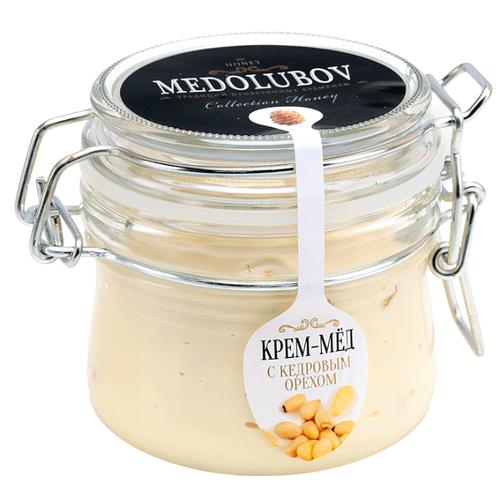 Крем-мед Medolubov с кедровым орехом (бугель) 250 мл