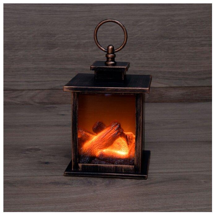 Светодиодный камин Кантри с эффектом живого огня 12х12х18,5 см, батарейки 3хАА (не в комплекте), 1шт.