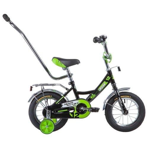 Детский велосипед Novatrack Urban 12 (2020) черный/зеленый (требует финальной сборки) велосипед ghost square urban 6 2016