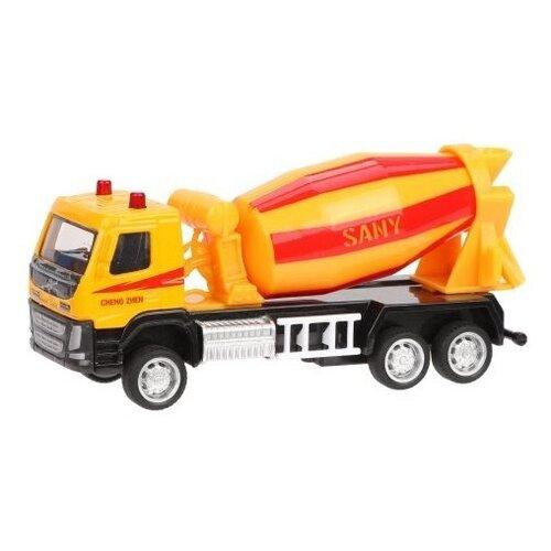 Бетономешалка Пламенный мотор Volvo (870407) 1:72, желтый/красный трактор пламенный мотор 870493 желтый
