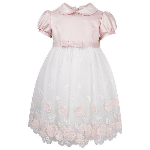 Платье ColoriChiari размер 80, розовый/белый
