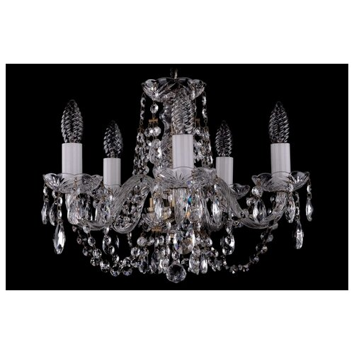 Люстра Bohemia Ivele Crystal 1406 1406/5/141/Pa, E14, 200 Вт подвесная люстра 1406 8 141 pa
