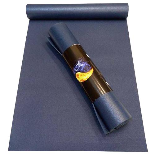 Коврик для йоги RamaYoga Yin-Yang Studio, 200х60х0.45 см синий