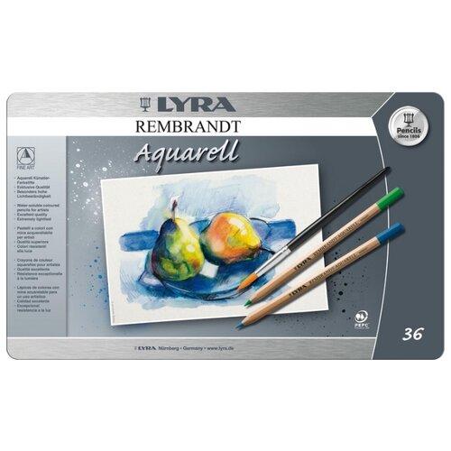 Акварельные карандаши Lyra Rembrandt Aquarell, 36 цветов lyra rembrandt aquarell sea green карандаш акварельный