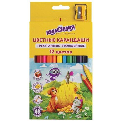 Купить Юнландия Карандаши цветные Сказочный мир, 12 цветов (181370), Цветные карандаши