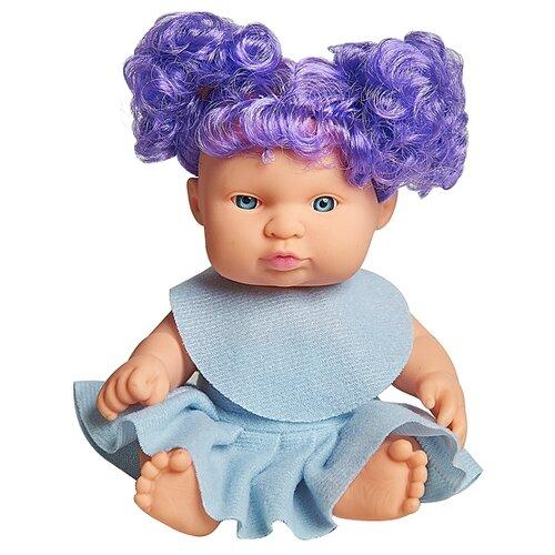 Кукла Lovely baby в голубом платье с фиолетовыми локонами, 18.5 см, XM632/1Куклы и пупсы<br>