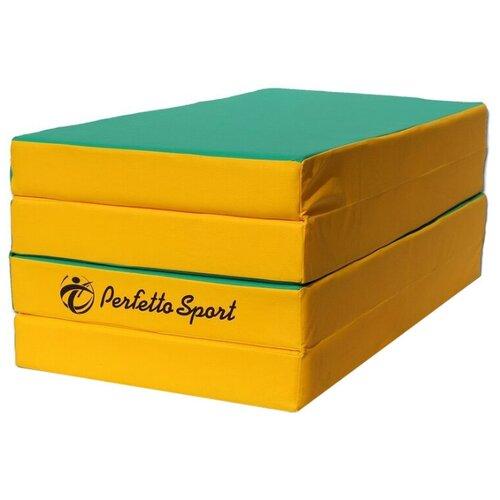 Спортивный мат 2000х1000х100 мм Perfetto Sport № 5 зелёно/жёлтый