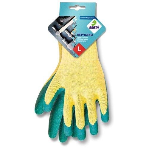 Перчатки БЕРТА 540 2 шт. зеленый/желтый губки для посуды arix lindy целлюлозные цвет желтый зеленый 2 шт