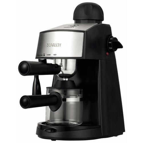 Кофеварка рожковая Scarlett SC-CM33004 черный/серебристый
