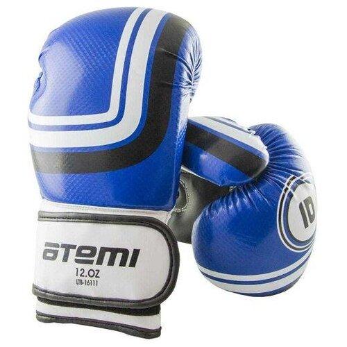 Боксерские перчатки ATEMI LTB-16111 размер L/XL синий 14 oz