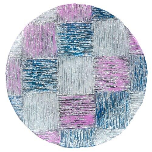 Akcam Блюдо Кватро Серебро 40 см фиолетовый/синий