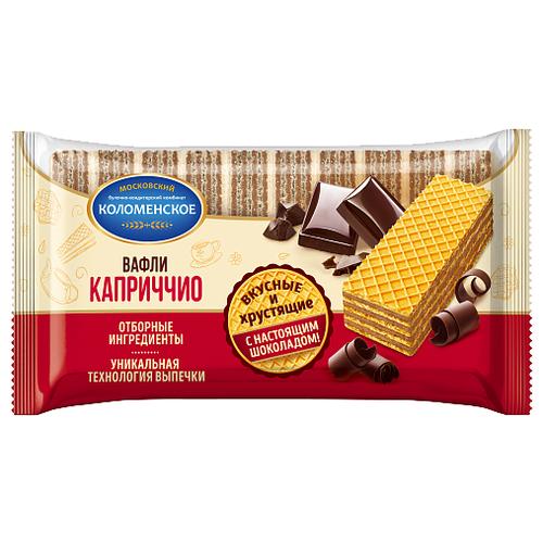 Вафли Коломенское Каприччио с шоколадной начинкой 220 г суфле bulgari банан с шоколадной начинкой 150гр