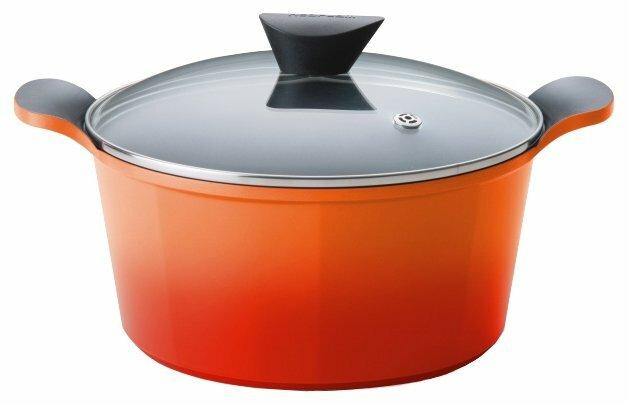 Кастрюля Frybest Orange 6,5 л, оранжевый