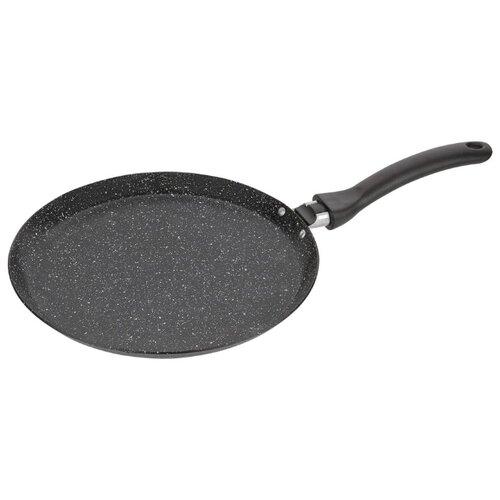 Сковорода блинная КАТЮША Классика 8012-240-2 24 см, черный гранит сковорода d 24 см kukmara кофейный мрамор смки240а