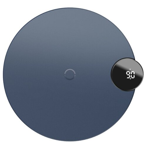 Купить Сетевая зарядка Baseus Digtal LED Display Wireless Charger cиний