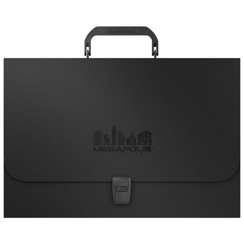 Купить ErichKrause Портфель пластиковый MEGAPOLIS FC черный, Файлы и папки
