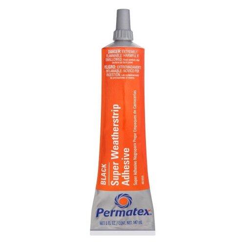 Универсальный клей для ремонта автомобиля PERMATEX Black Super Weatherstrip Adhesive 81850, 0.147 кг черный
