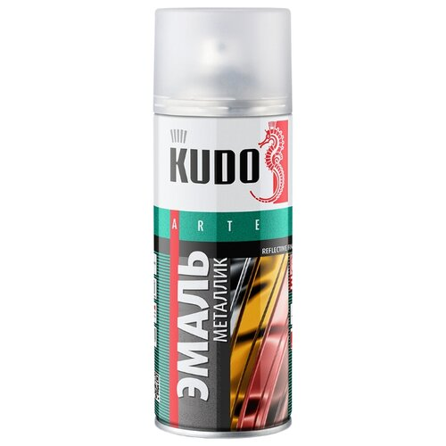 Эмаль KUDO универсальная металлик Reflective finish алюминий 520 мл