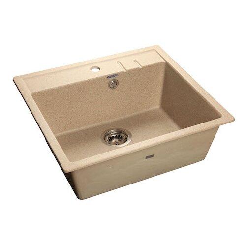 Фото - Врезная кухонная мойка 55.8 см GranFest Quadro GF-Q560 песочный мойка кухонная granfest quadro gf q560 серая из искусственного мрамора с сифоном 55 8х49 8 см