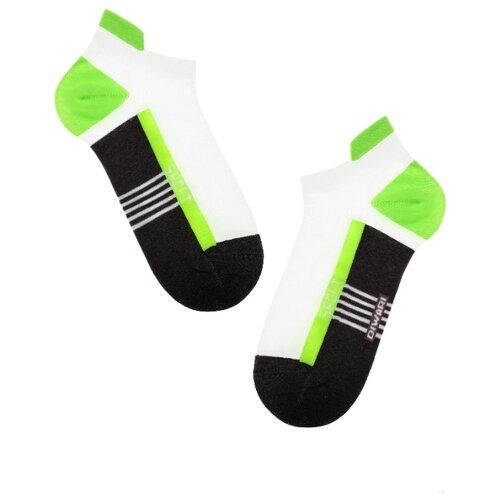 Фото - Носки Active 16С-72СП 083 Diwari, 29 размер, темно-серый/салатовый носки мужские стильная шерсть цвет темно серый белый 618 1с47 125 размер 29