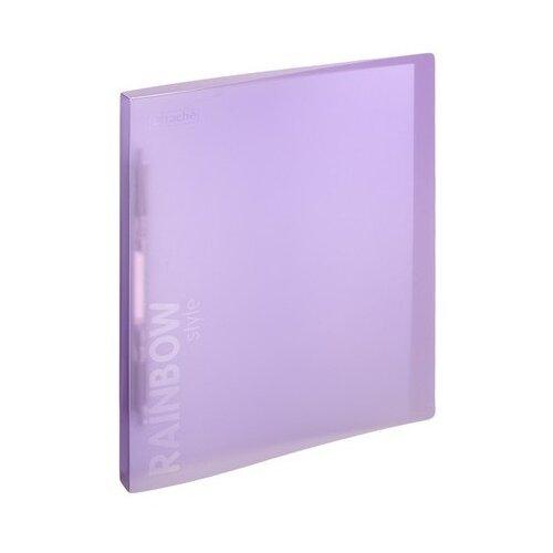 Attache Папка-скоросшиватель с пружинным механизмом Rainbow style А4, пластик фиолетовый attache папка скоросшиватель fluid а4 пластик фиолетовый