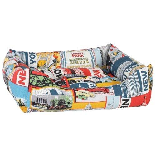 Лежак для собак, для кошек PRIDE Нью Йорк (10423387) 70х60х23 см серый/красный/желтый/голубойЛежаки, домики, спальные места<br>
