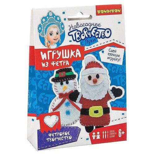 Купить Набор для творчества Bondibon Ёлочные игрушки из фетра своими руками. Снеговичок и Дед Мороз , Изготовление кукол и игрушек