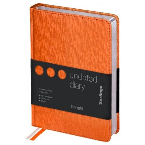 Купить Ежедневник Berlingo Starlight недатированный, искусственная кожа, А6, 160 листов, оранжевый, Ежедневники, записные книжки