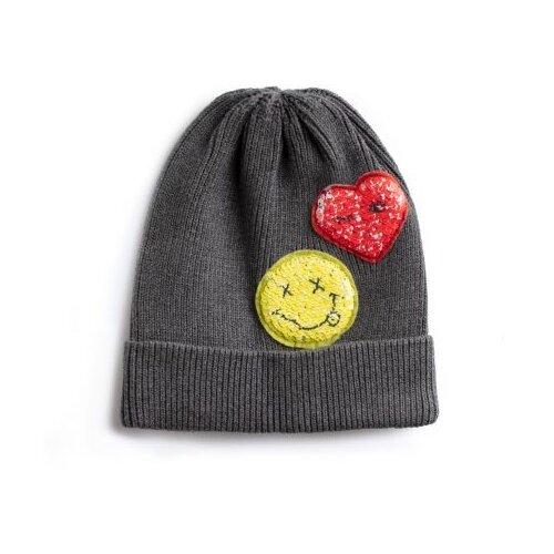 Шапка playToday размер 50, серый/желтый/красныйГоловные уборы<br>