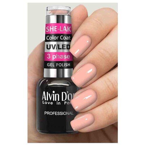 Купить Гель-лак для ногтей Alvin D'or She-Lak Color Coat, 8 мл, оттенок 3576