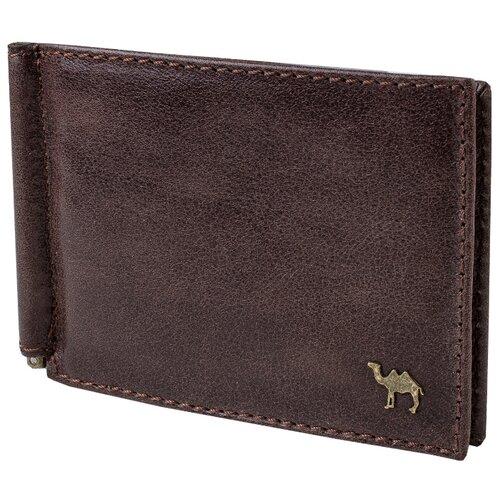 Зажим для купюр Dimanche Camel Premium 919/K, натуральная кожа коричневый