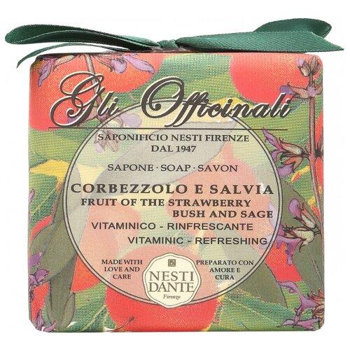 Фото - Мыло кусковое Nesti Dante Gli Officinali Strawberry tree and Sage, 200 г nesti dante fig and almond milk shower gel