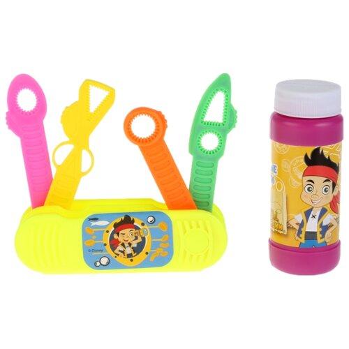 Раскладной нож с мыльными пузырями Играем Вместе Disney Джейк и Пираты Нетландии желтый/розовый инерционная игрушка для ванны fisher price джейк и пираты нетландии х1219 b0662