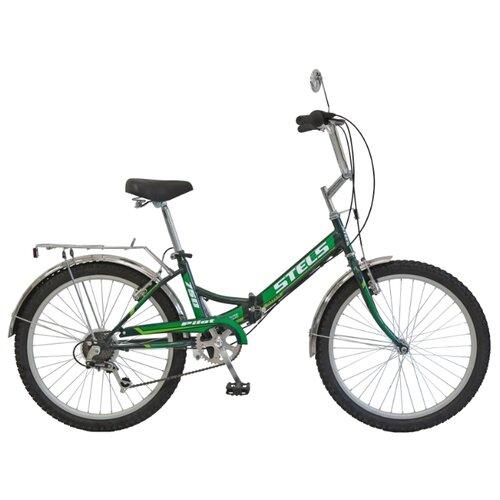 Городской велосипед STELS Pilot 750 24 Z010 (2018) черный/зеленый 16