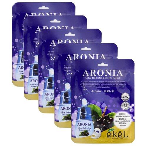 цена на Ekel Маска тканевая Ultra Hydrating Essence Mask с экстрактом черноплодной рябины, 25 мл, 5 шт.