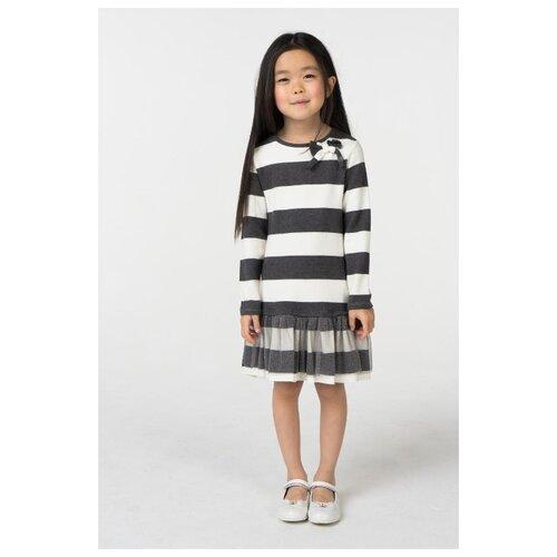 Купить Платье Sarabanda размер 122, белый/серый, Платья и сарафаны