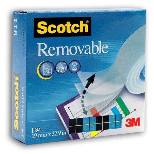 Scotch Лента клейкая Removable 811